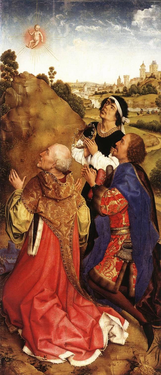 Рогир ван дер Вейден, Бладелинский триптих, правая створка. 1450-е.